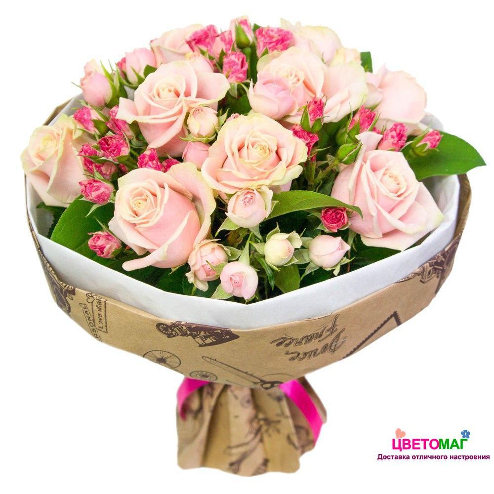 Букеты из цветов роза 54
