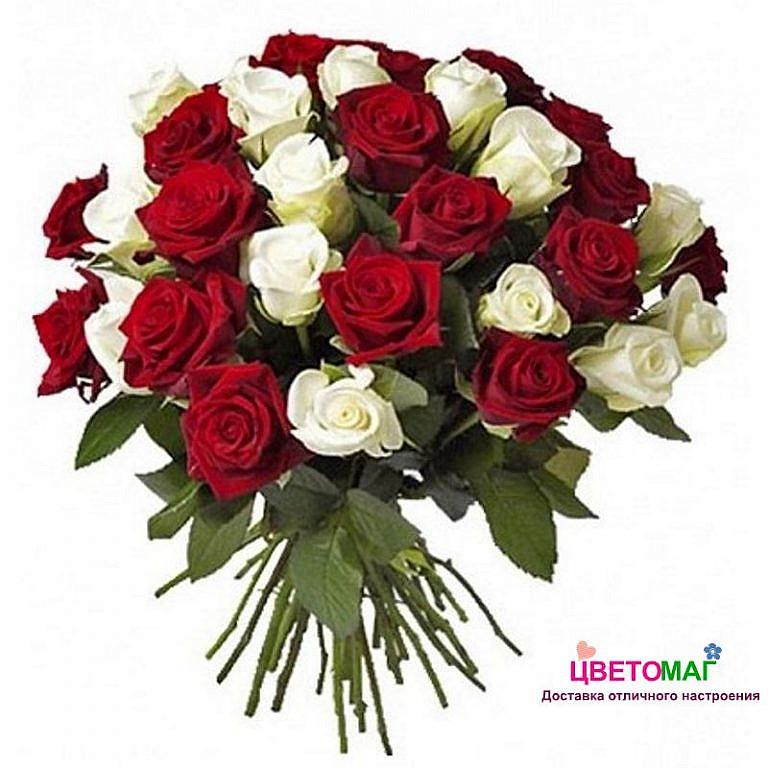 букет из красных и белых роз заказывать молебен