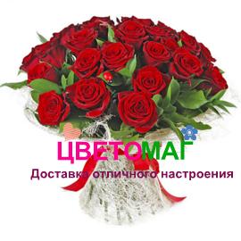 Букет из 21 красной розы.