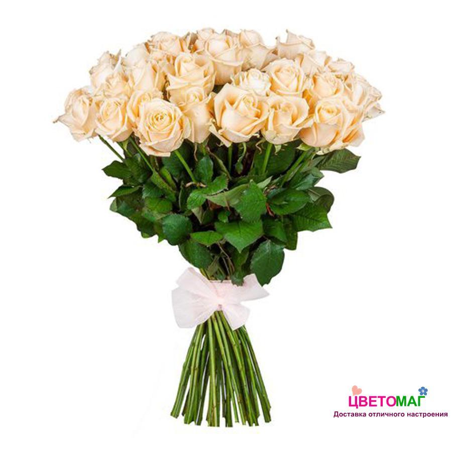 Букет 51 кремовая роза Россия