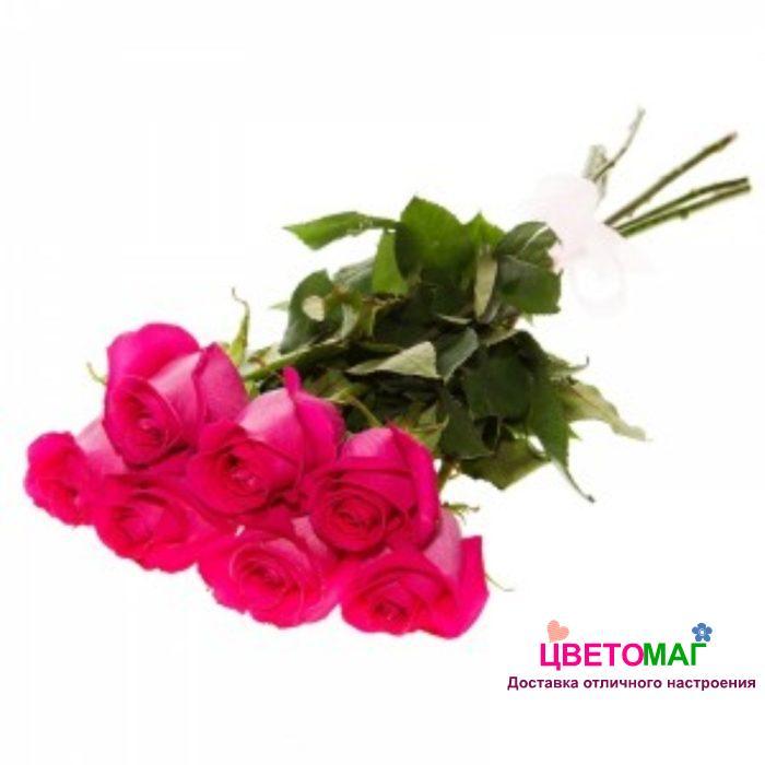 Букет 7 розовых роз.