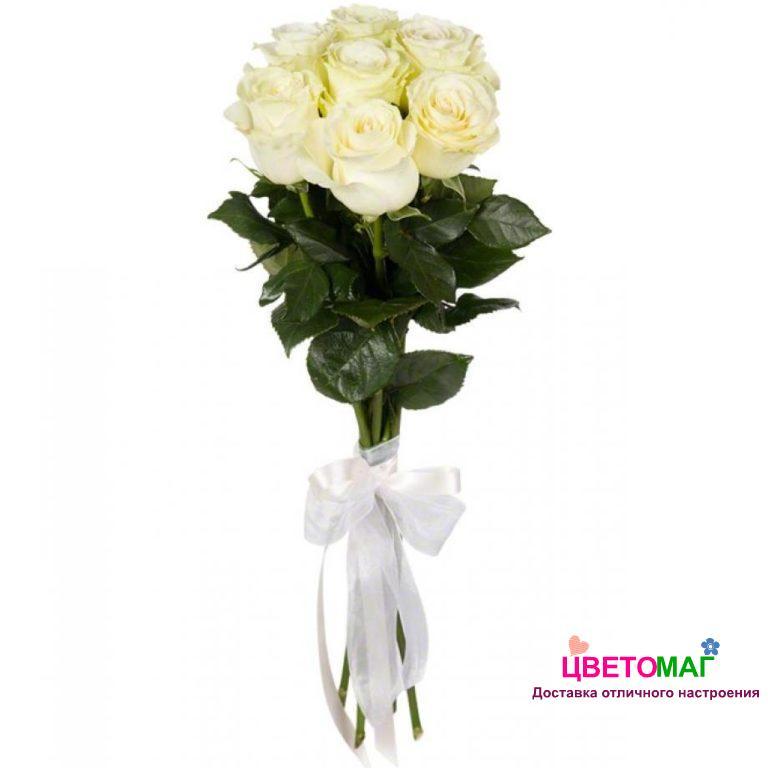Букет 7 белых роз.