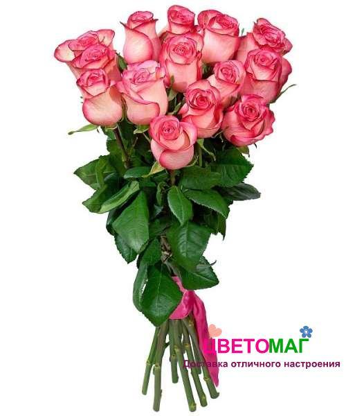 Кустовые розы в букете 5 штук — 1