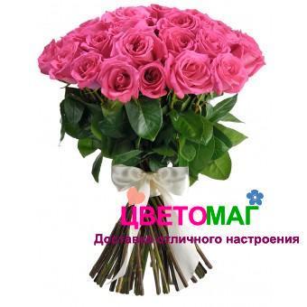 Букет 25 розовых роз Pink Floyd 50 см (Эквадор)