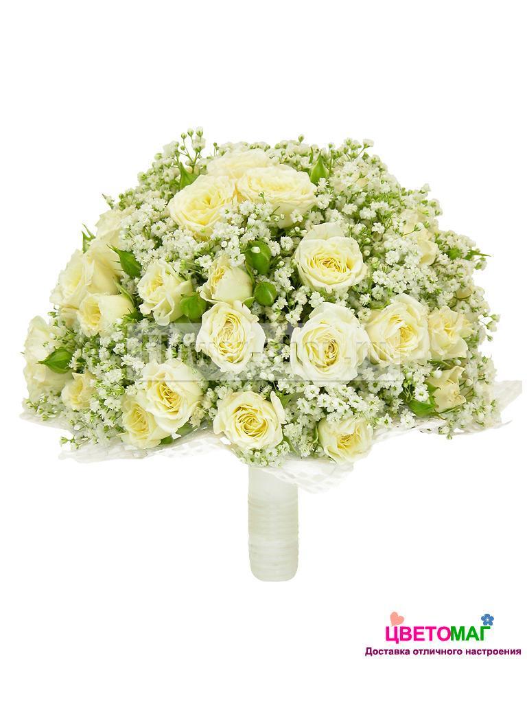 """Свадебный букет """"Союз"""" из кенийских роз"""