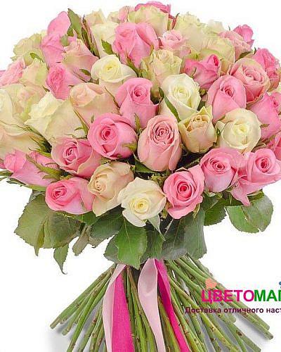 Свадебный букет из кенийских роз