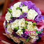 Свадебный букет из лизиантусов