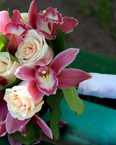 """Свадебный букет из орхидеи """"Теплота"""""""