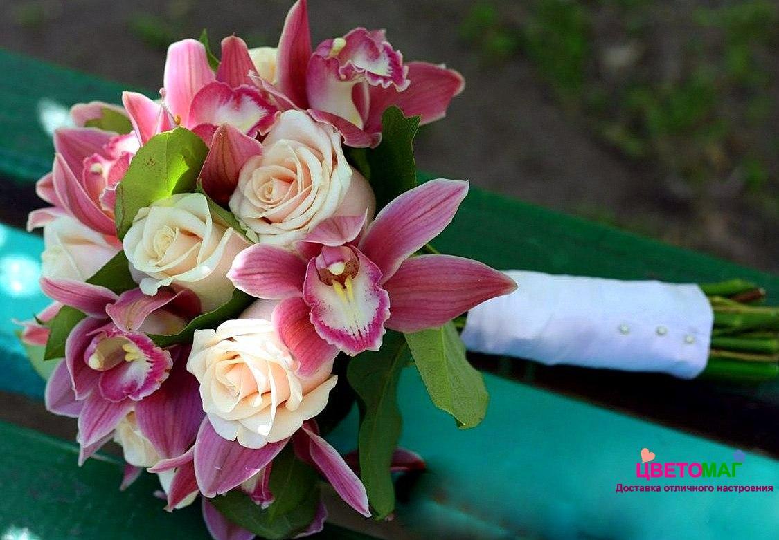 """Свадебный букет из орхидеи """"Кавалер"""""""