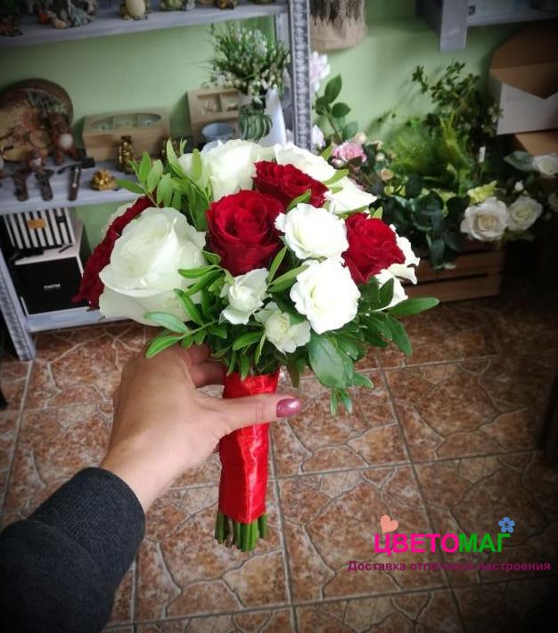 """Свадебный """"Рай"""" букет из роз"""