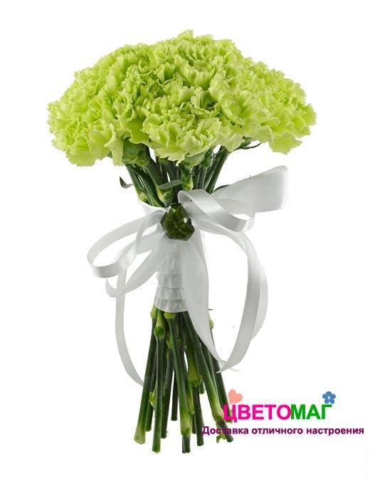 Букет невесты из зеленых гвоздик купить спб цветов