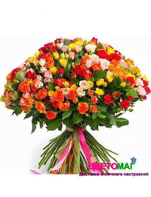Роза кения кустовая 40 см микс