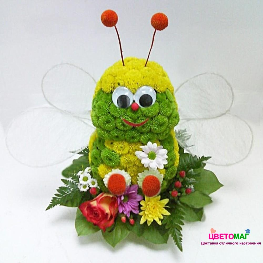 Прикольные картинки из цветов, день рождения