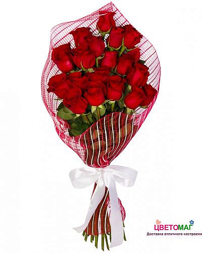 Букет красных роз Каскад