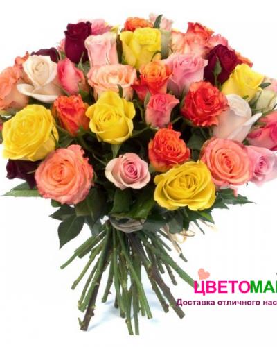 Букет 25 кенийских роз микс