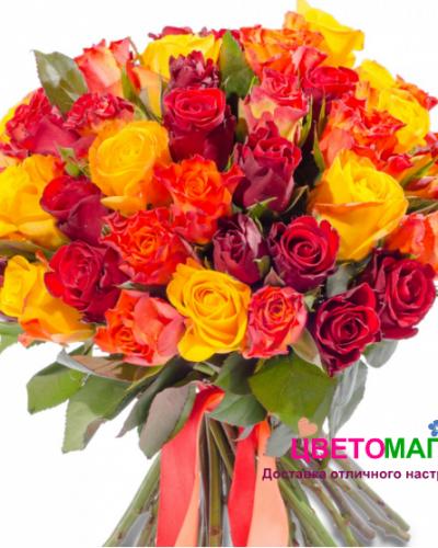 Букет 71 кенийская роза микс