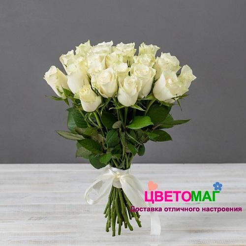 Букет 25 кенийских белых роз