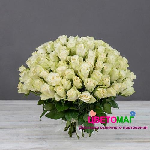 Букет 101 кенийская белая роза