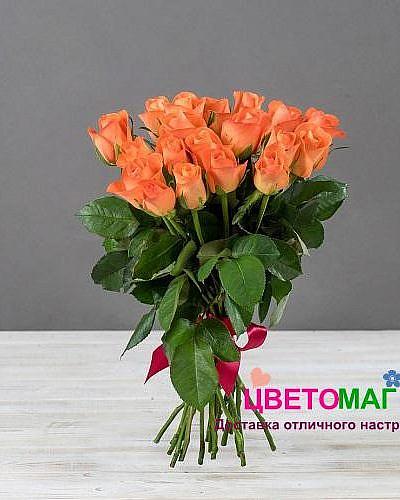 Букет 19 кенийских рыжих роз