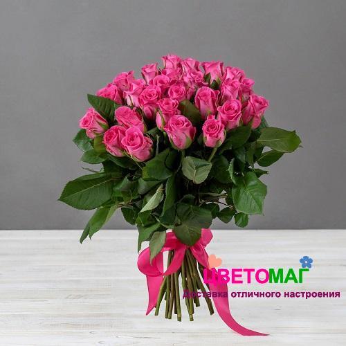 Букет 25 кенийских малиновых роз