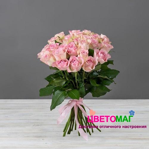 Букет 25 кенийских розовых роз