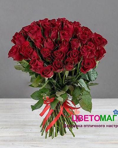 Букет 51 кенийская красная роза