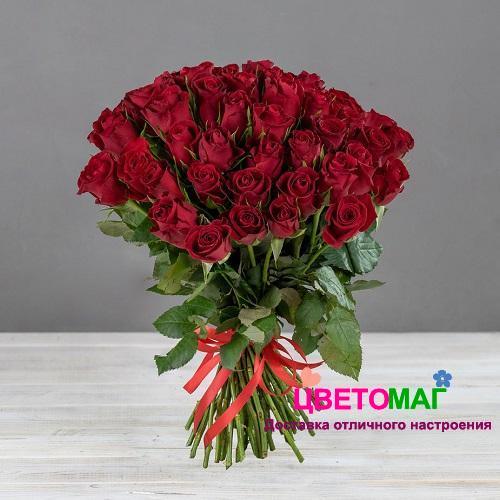 Букет 101 кенийская красная роза