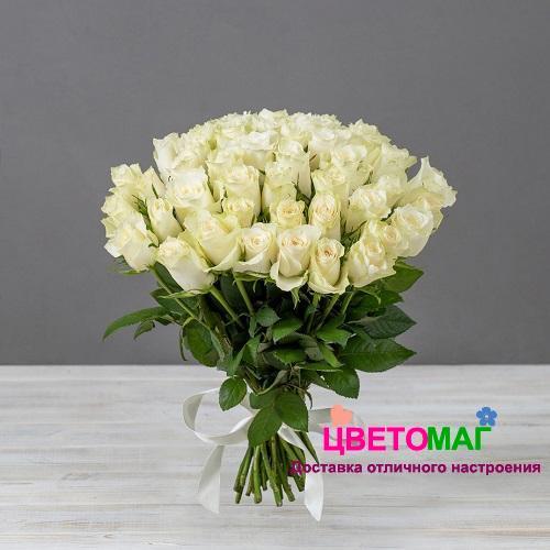 Букет 51 кенийская белая роза