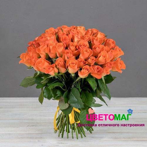 Букет 51 кенийская рыжая роза