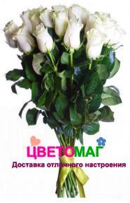 Букет 31 белая роза Vendela 60 см (Эквадор)