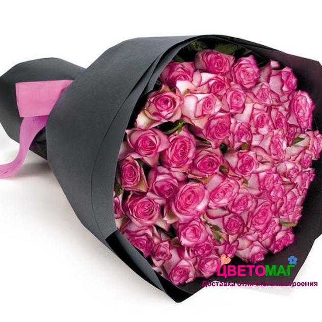 Букет 51 роза  Carousel 50 см (Эквадор)