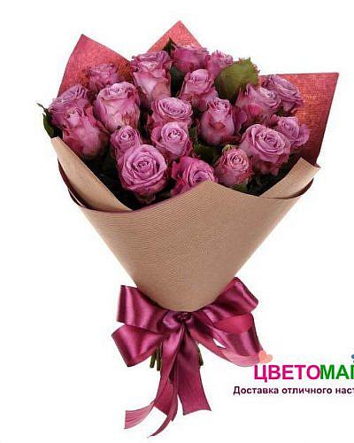Букет 19 роз Deep Purple 50 см (Эквадор)