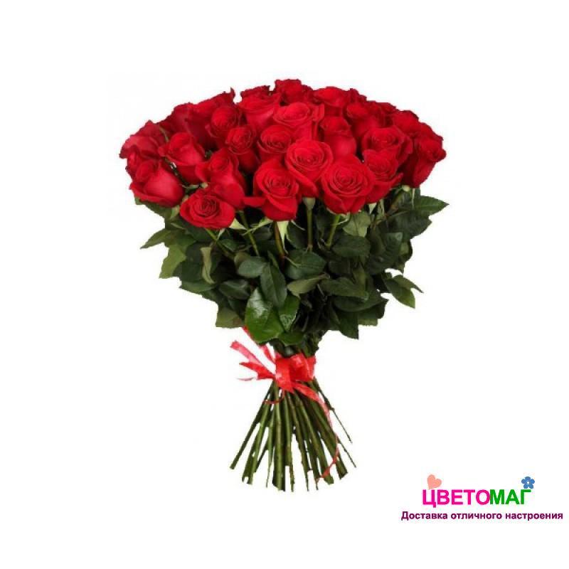 Букет из 39 красных роз  Freedom 60 см (Эквадор)