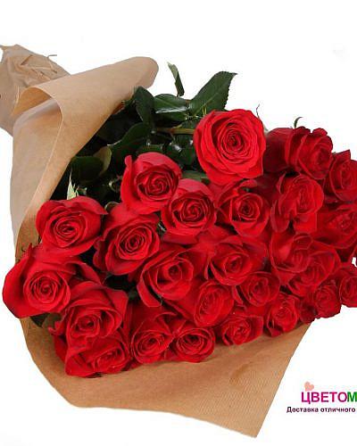 Букет из 31 красной розы Freedom 60 см (Эквадор)