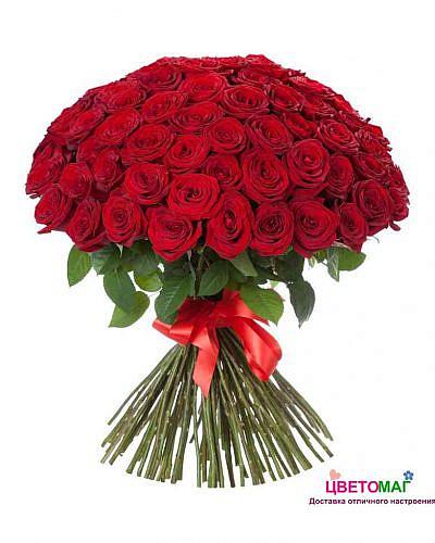 Букет из 101 красной розы Freedom 60 см (Эквадор)
