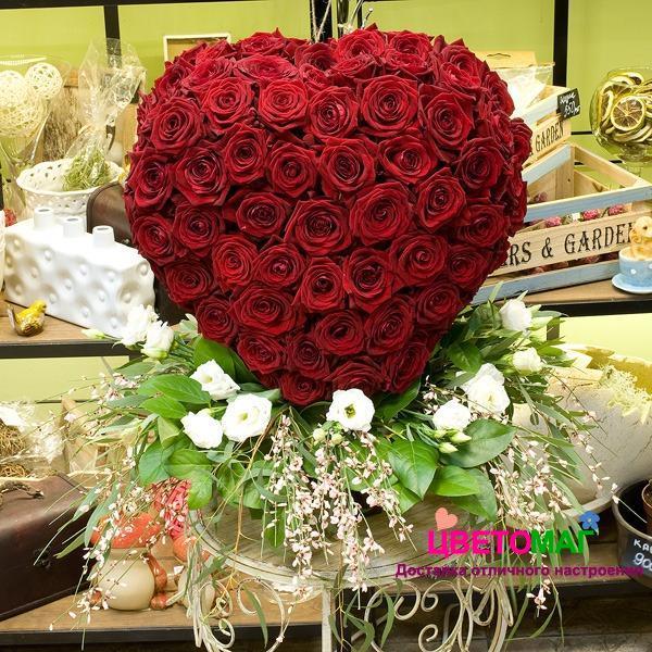 Букет «Сердце из 151 красной розы»