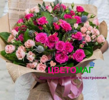 Букет из кустовой розы