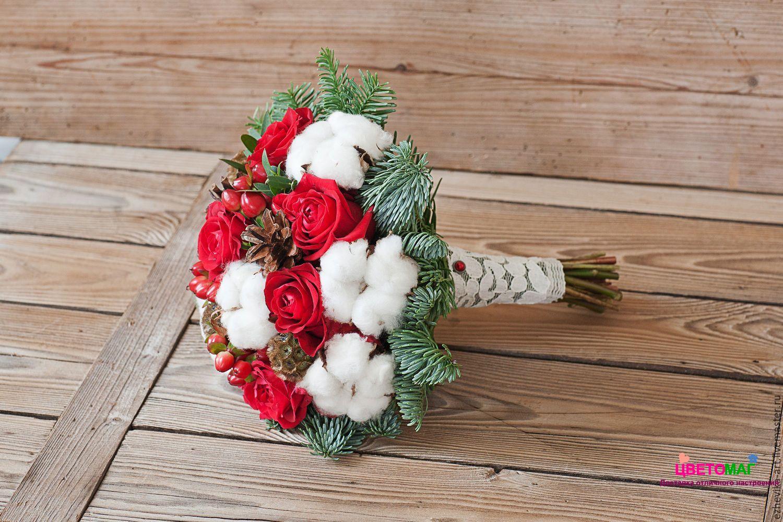 Зимний букет невесты  СПб