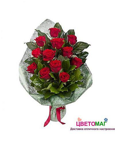 Букет 12 из красных роз