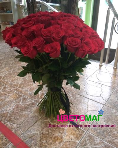 Букет из 100 красных роз Эквадор